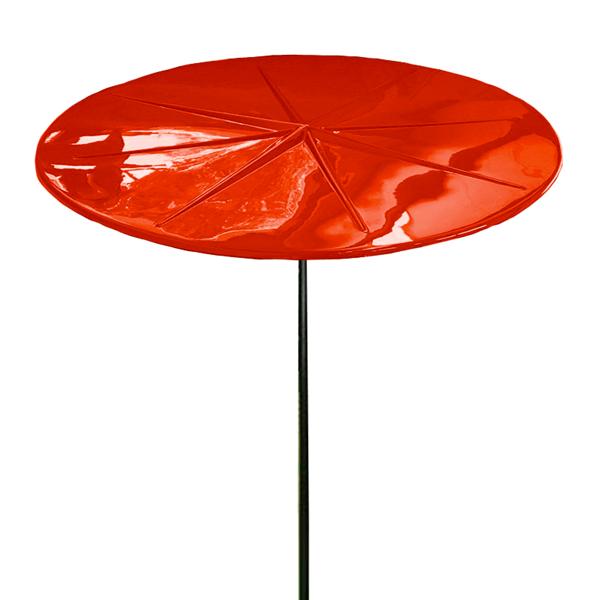 Umbrella 6 foot Round Starburst Fiberglass Top with 1 1/2 Inch Powder Coated Black Pole