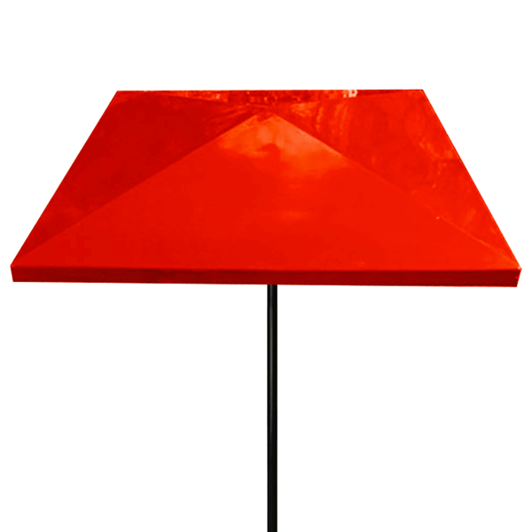 Umbrella 6 foot Square Bistro Fiberglass Top