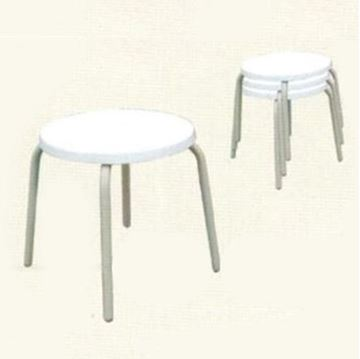 """Stacking Fiberglass Round 18"""" H Pool Side Table"""