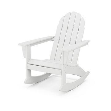 Vineyard Adirondack Rocking Chair WHT