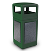 42 Gallon Stone Tec Commercial Square Plastic Trash Receptacle With Dome Lid