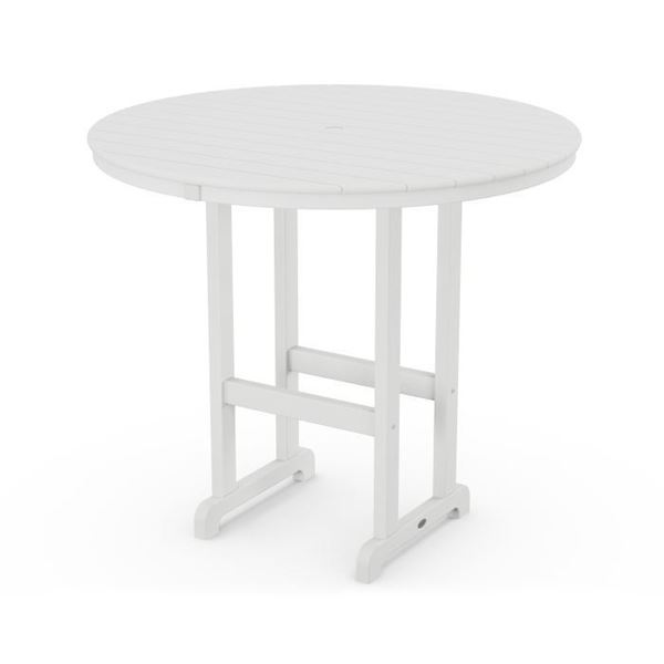 Polywood 48 Inch Round Bar Table