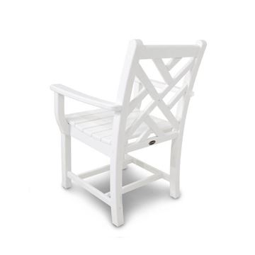 Polywood Chippendale Armchair WHT