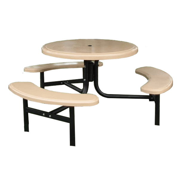 "Cafe 6 42"" Round Fiberglass Picnic Table"