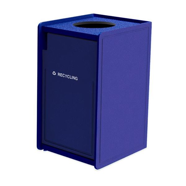 42-Gallon Plastic EarthCraft Top-Load Recycling Container - 92 lbs.