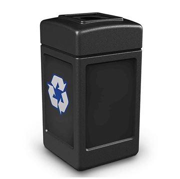 42-Gallon Polyethylene Recycling Container Polytec Series - 18 lbs.