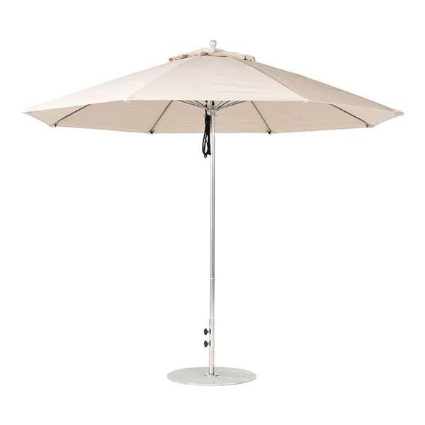 11 Foot Octagonal Fiberglass Market Umbrella with Marine Grade Fabric