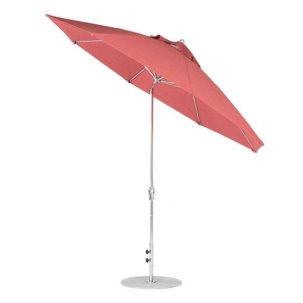 11 Foot Octagonal Fiberglass Market Umbrella with Marine Grade Fabric with Auto Tilt and Crank Lift