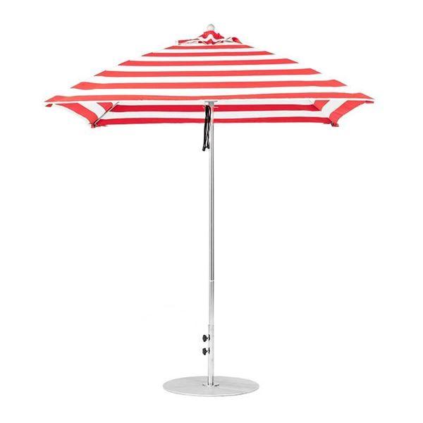 7.5 Foot Square Fiberglass Market Umbrella with Marine Grade Fabric