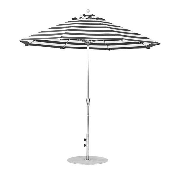 9 Foot Octagonal Fiberglass Market Umbrella with Crank, Marine Grade Fabric