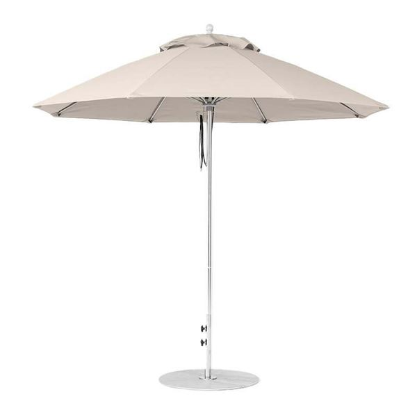 9 Foot Octagonal Fiberglass Market Umbrella with Marine Grade Fabric