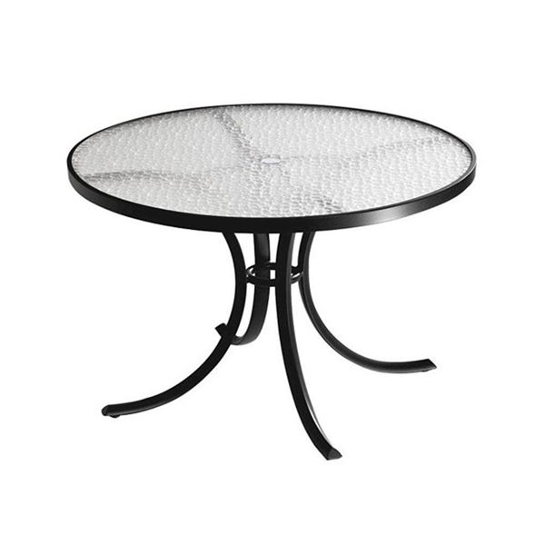 """42"""" Round Acrylic Dining Table"""