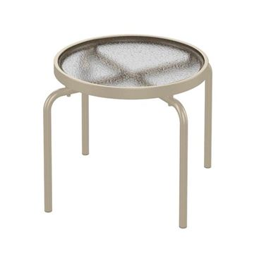 """20"""" Round Acrylic Stackable Side Table"""