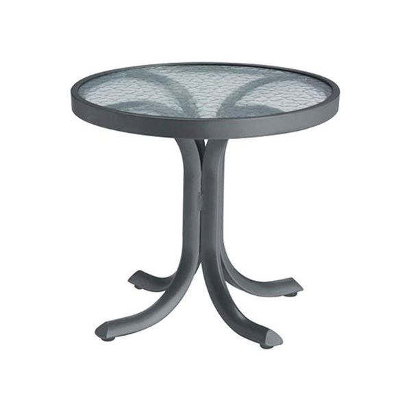 """20"""" Round Acrylic Pedestal Side Table"""