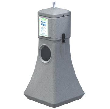 19-Gallon Waste Can with Sanitizing Wipes Dispenser - 15 lbs.
