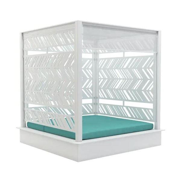 Ledge Lounger Polyethylene Square Daybed Cabana