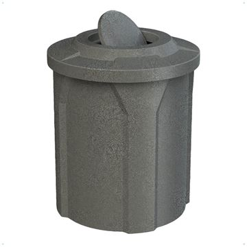 42 Gallon Pool Deck Trash Can with Bug Barrier Lid & Liner
