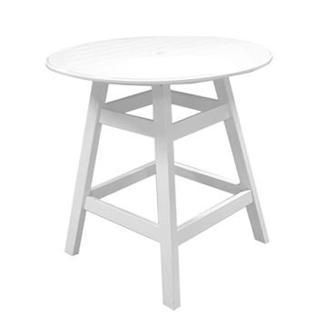 """Kingston Commercial Solid Marine Grade Polymer 36"""" Round Balcony Height Table"""