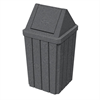 32 Gallon Pool Deck Trash Can with Liner and Swing Lid