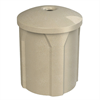 42 Gallon Pool Deck Trash Can with Mushroom Lid & Liner