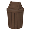 42 Gallon Pool Deck Trash Can with Swing Lid