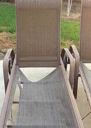Damaged Sling Chaise Lounge